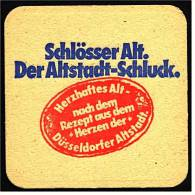 Bierdeckel  ,  Schlösser Alt  ,  Der Altstadt-Schluck Aus Düsseldorf - Sous-bocks