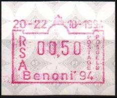 AFRIQUE DU SUD RSA : Distributeur ATM 13 Expo Benoni 94 Sur Papier De Sécurité Fluorescent (1) - Vignettes D'affranchissement (Frama)