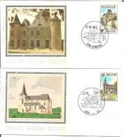 België    FDC  Zijde  18670/1873   Toerisme - FDC