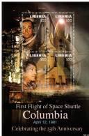 Liberia 4408 / 11 ( Feuille Complète ) Premier Vol De La Navette Columbia - Space