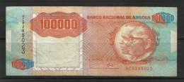 Angola 1991 100,000 Kwanzas  ERROR . 10000 Au Lieu De 100000 . - Angola