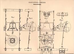 Original Patentschrift - C. Köpcke In Dresden , 1898 , Glocken - Aufhängung , Glocke , Kirche , Frauenkirche !!! - Cloches