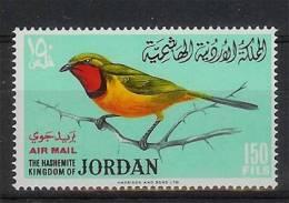 Mmf045 VOGELS Telephorus Quadricolor BIRDS VÖGEL AVES OISEAUX JORDAN 1964 PF/MNH - Birds