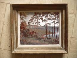 Tableau  Sur Fond D' étain - Poudre Bronze Et Encre Speciale - Signé Eric Sera -- Paysage Mer - Autres Collections