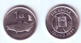 Iceland 1 Krona 1991 - Island