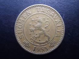 FINLAND 1953H TEN MARKKAA Aluminium-bronze USED COIN In FINE CONDITION. - Finland