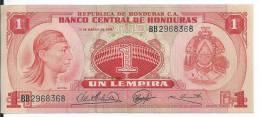 HONDURAS 1 LEMPIRA  1974 VF+ P 58 - Honduras