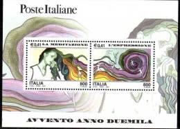 """PIA - ITALIA - 2000 : Avvento Dell' Anno 2000 """" La  Meditazione - L' Espressione """"   - (SAS Bf 31) - 6. 1946-.. Repubblica"""