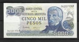 ARGENTINE .  BILLET DE 5000  PESOS . - Argentina
