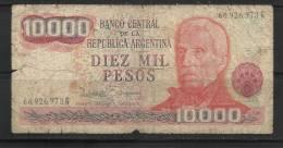 ARGENTINE .  BILLET DE 10.000  PESOS . - Argentina