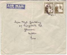 Letter From Palestine To Dublin, Eire With 2 Stamps 20 Millièmes - Palestine