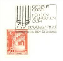 Orgue: Oblit. Temporaire D'Autriche, 1978  -  Organ Special Cancel  From Graz, Austria - Musik