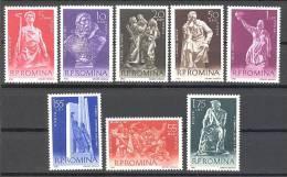 Roumanie: Yvert N° 1760/8**; MNH; Scultures;  Cote 9.50€; LIQUIDATION!!! A PROFITER!!! - 1948-.... Republics