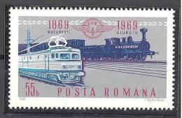 Roumanie: Yvert N° 2496**; MNH; Train; LIQUIDATION!!! A PROFITER!!! - 1948-.... Republics