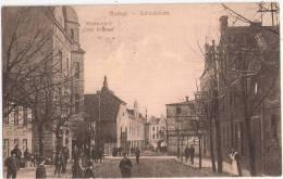Gollub Schloßstraße Belebt Kinder Dobrzyń Restaurant Drei Kronen 31.5.1913 Gelaufen Besonderes Papier - Pommern