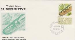 Samoa 1975 Definitive $ 5.00 Green Tree Lizard FDC - Samoa