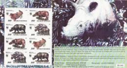 D] Sheet Feuillet * Indonesie Indonesia Rhinoceros Rhino WWF - Non Classés