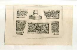- FRANCE . SCULPTURES (église De Nantua) . GRAVURE SUR ACIER DE LA 1ere 1/2 DU XIXe S. - Sculptures