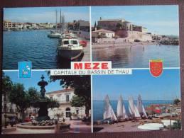 MEZE (BASSIN DE THAU) / LOT DE 3 JOLIES CARTES PHOTOS / DESCRIPTIF ET PHOTOS - Mèze