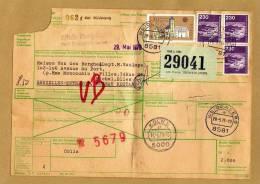 Document Postal D'envoi 29041 962 8581 Weidenberg Köln To Bruxelles Entrepôt Bureau Restant - 2 Scans - BRD