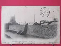 50 - St Vaast La Hougue - Le Vieux Donjon (sémaphore) - Cachet Ambulant Quimper à Nantes - Précurseur 1903 - Recto-verso - Saint Vaast La Hougue
