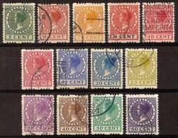 Nederland Netherlands Pays Bas (1925) Tweezijdige Roltanding 6/18 Gestempeld (used, Oblitere) Syncopated - Carnets