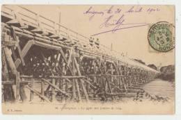 AVIGNON : LE PONT AUX JAMBES DE BOIS - DOS SIMPLE 1902 - 2 SCANS - - Avignon (Palais & Pont)