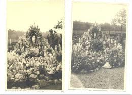 Peut-être Baelen Sur Vesdre ?? - Grotte De Lourdes Chez Un Particulier 1941-Lot De 2 Photos Cartes  à Situer  (1739)b114 - Baelen