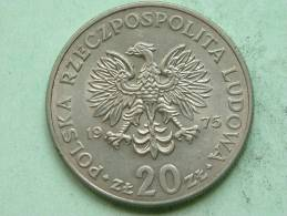 1975 - 20 ZLOTY / Y # 69 ( For Grade, Please See Photo ) ! - Pologne