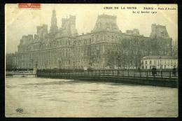 75004 - Inondation Janvier 1910 - Pont D'Arcole - District 04