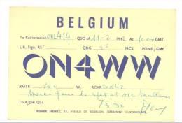 LIBRAMONT - Carte De Radio Amateur - Coordonnées Et Fréquence (Y260)b114) - Cartes De Visite