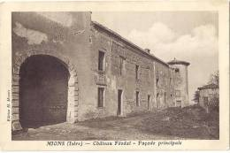 RHONE 69.MIONS CHATEAU FEODAL FACADE PRINCIPALE - France