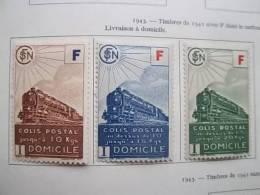1943 Timbres De 41 Avec Lettre F Yvert 200 à 203 - Pacchi Postali