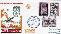 Tunisie: 1962 Très Belle Fdc Lutte Contre Le Paludisme, La Malaria - Disease