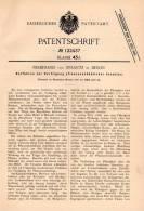 Original Patentschrift - Ferdinand Von Strantz In Berlin ,1900, Schutz Vor Prozessions Raupe , Insekten , Pflanzenschutz - Historische Dokumente