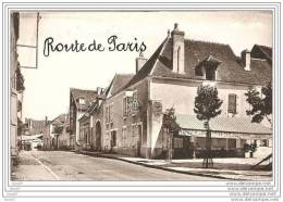 CPA  45  BONNY SUR LOIRE  / ROUTE DE PARIS / HOTEL DES VOYAGEURS - Non Classés