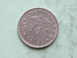 1933 VL - 50 CENT / KM 88 / Morin 422 ( For Grade, Please See Photo ) ! - 1909-1934: Albert I