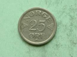1957 - 25 ORE / KM 401 ( For Grade, Please See Photo ) ! - Norvège