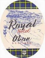 SCOTLAND OBAN ROYAL HOTEL VINTAGE LUGGAGE LABEL - Hotel Labels