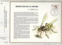 """France CEF 493 - Protection De La Nature """"l'abeille"""" - 1er Jour Abeille Apis Mellifica - Evian Les Bains - T. 2039 - Covers & Documents"""