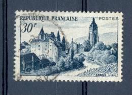 VARIETES FRANCE  ANNEE 1951  N° 905 VUE D´ARBOIS POINT BLEU ENCRE CHIFFRE 30 F  / CLÖCHER OBLI - Varieties: 1950-59 Used