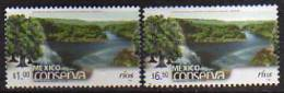 MEXIQUE.Protection Des Rivieres  (Mexico Conserva) 2 T-p Neufs ** ( These Stamps Are Getting Scarcer Everyday) - Trees