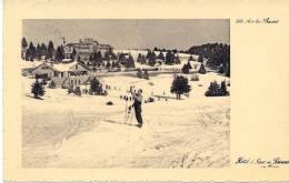 CPA 73 SAVOIE AIX LES BAINS ANIME HOTEL ET GARE DU REVARD EN 1934 - Aix Les Bains