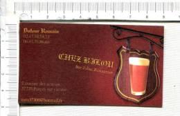 L324 -  Carton  Publicitaire  -  Enseigne - Verre De Bière -  Bar - Tabac - Restaurant - Publicidad (Avisos)