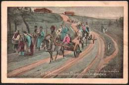 Russia - Peasants Walking And Carts - Russia