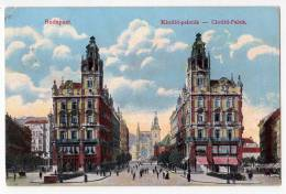 EUROPE HUNGARY BUDAPEST CLOTILD PALACE Nr. 43 OLD POSTCARD 1918. - Hungary