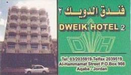 JORDAN AQABA DWEIK HOTEL 2 VINTAGE LUGGAGE LABEL - Hotel Labels