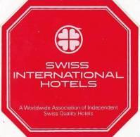 SAUDI ARABIA SWISS INTERNATIONAL HOTELS VINTAGE LUGGAGE LABEL - Hotel Labels