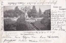Gruß Aus Stuttgart, Der Eugensbrunnen, Um  1899 - Monuments