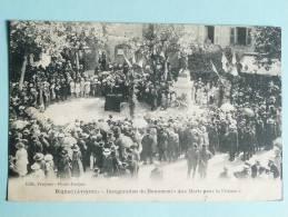 """RIGNAC - Inauguration De Monument """" Aux Morts Pour La FRANCE"""". - Altri Comuni"""